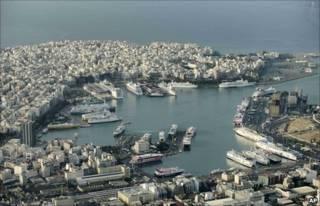 Cảng Piraeus ở Hy Lạp