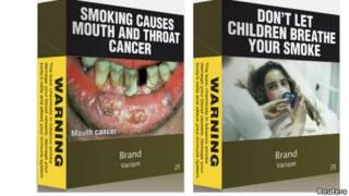 Contoh paket rokok baru di Australia