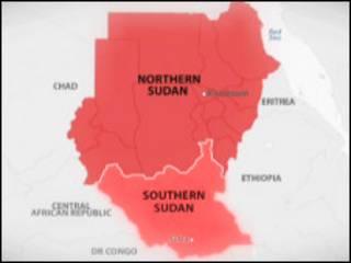 Ramani ya Sudan Kusini na Kaskazini