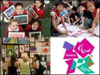 学生画画和伦敦奥运