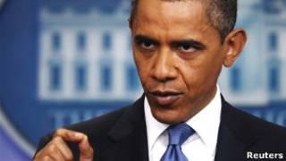 Obama fala a jornalistas na Casa Branca. Foto: Reuters