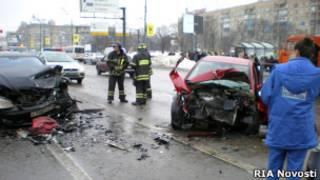 Авария на Ленинском проспекте 25 февраля 2010 года