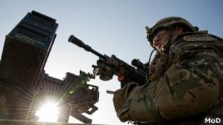 Британский военный патруль в Афганистане