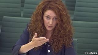 Rebeka Brooks, no parlamento britânico. Reuters