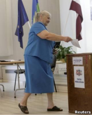 Голосование в Латвии