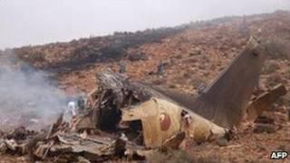 صحنه حادثه سقوط هواپیما در جنوب مراکش