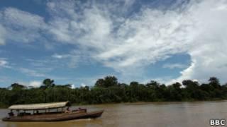 Amazônia peruana, onde mulheres vítimas de tráfico sexual foram resgatadas (Foto: BBC)