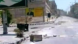 Cảnh trên đường phố ở Hama được truyền thông nhà nước Syria công bố