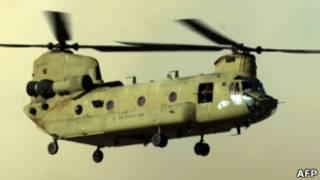Helicóptero do tipo Chintook, dos EUA.