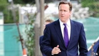 Primeiro-ministro David Cameron. PA