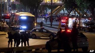 Sequestro de ônibus no Rio. Foto: AP