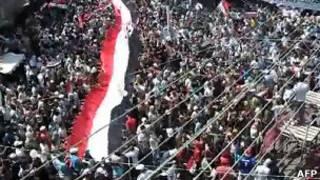 Suposto protesto na cidade síria de Latakia. Foto: AFP