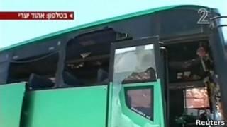 Ônibus foi alvo de um ataque de homens armados na fronteira entre Israel e Egito.