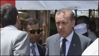 Erdogan oo booqanaya xero qaxooti magaalada Muqdisho