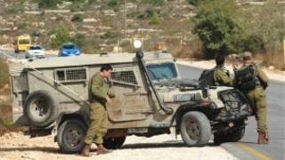 Израильский армейский автомобиль в районе Эйлата