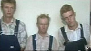 Três acusados, em foto de 2009. Foto: AP