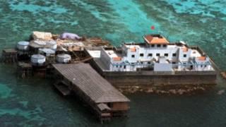Công trình của Trung Quốc trên một hòn đảo có tranh chấp