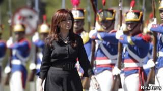 Cristina Kirchner em Brasília, em 29 de julho de 2011