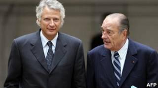 Жак Ширак и Доминик де Вильпен