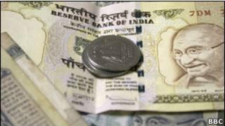 भारतीय मुद्रा रुपए के नोट और सिक्के