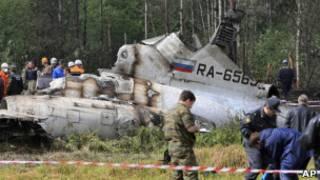 На месте крушения Ту-134 под Петрозаводском