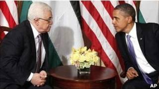 Президент США Барак Обама и лидер палестинцев Махмуд Аббас