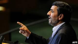 Махмуд Ахмадинежад выступает перед Генеральной ассамблеей ООН