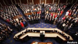 Sessão conjunta do Congresso dos EUA, em setembro