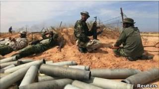 Бойцы повстанческих сил в Ливии