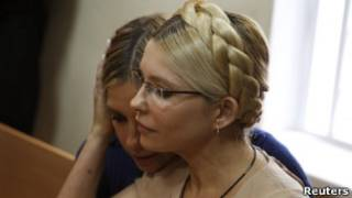 Юлия Тимошенко во время суда