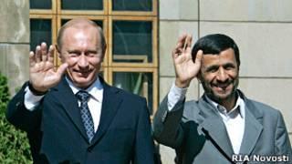 احمدی نژاد و پوتین