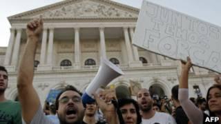 Protesto em Lisboa. AFP