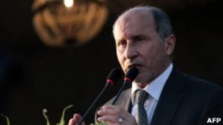 رییس شورای انتقالی لیبی