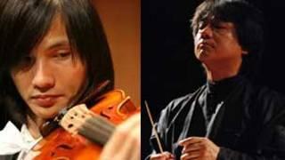 Cây vĩ cầm chính Lê Hoài Nam và nhạc trưởng Honna Tetsuji (Ảnh: Dàn nhạc giao hưởng Việt Nam)