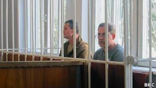 Владимир Садовничий и Андрей Руденко в клетке в зале суда
