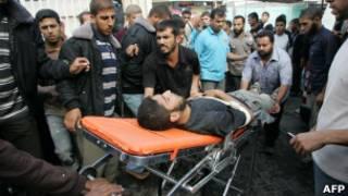 غزہ میں زخمی