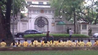 Buổi tọa thiền sáng 08/11 trước ĐSQ TQ ở Hà Nội