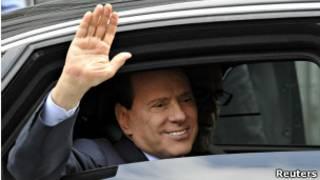 O primeiro-ministro italiano Silvio Berlusconi.