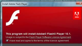 Экран загрузки приложения Flash Player