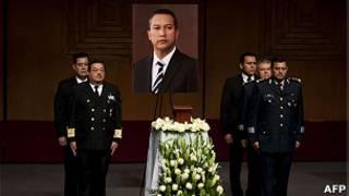 Funeral del secretario blake mora