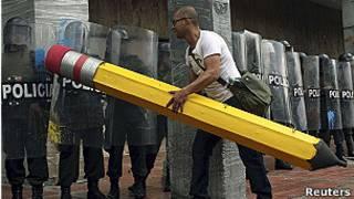 Protesta estudiantil en Colombia