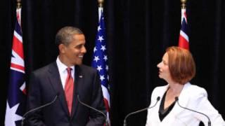 باراک اوباما رئیس جمهوری آمریکا و جولیا گیلارد، نخست وزیر استرالیا