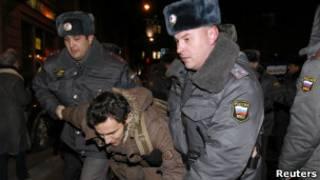 Задержание активиста оппозиции в Москве