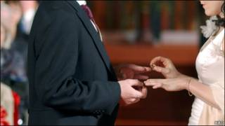 婚礼上交换戒指