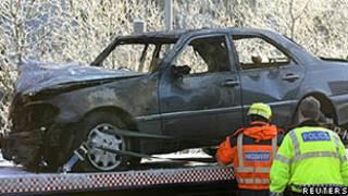 Acidente de carro na Grã-Bretanha/Reuters