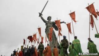 Религиозная процессия в Волгограде