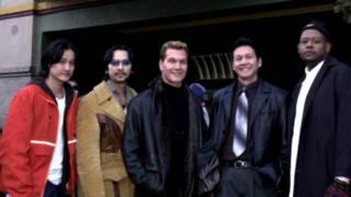 Nhóm làm phim Rồng Xanh tại liên hoan Sundance 2001: Tony Bui, Timothy Linh Bui, Patrick Swayze, Đơn Dương, và Forest Whitaker