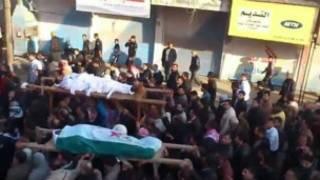 تشییع جنازه قربانیان ناآرامی ها در سوریه