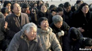Скорбь северокорейцев