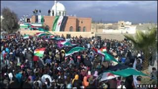 सीरिया में विरोध प्रर्दशन